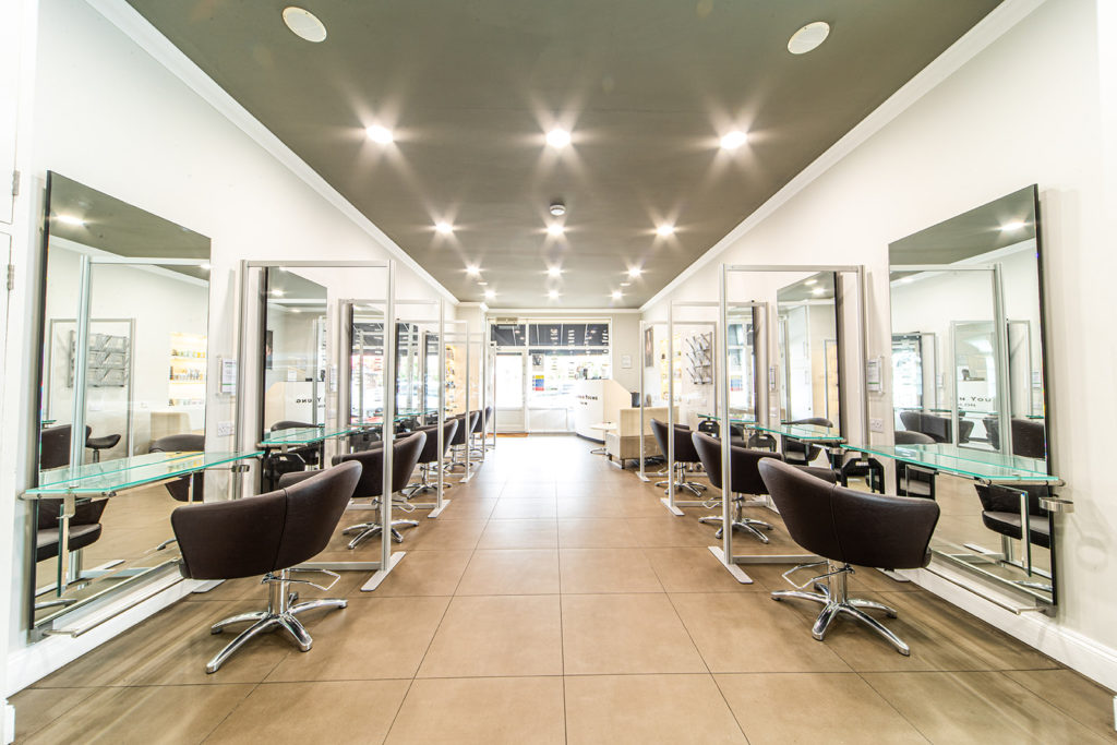inside stephen young hair salon west wimbledon