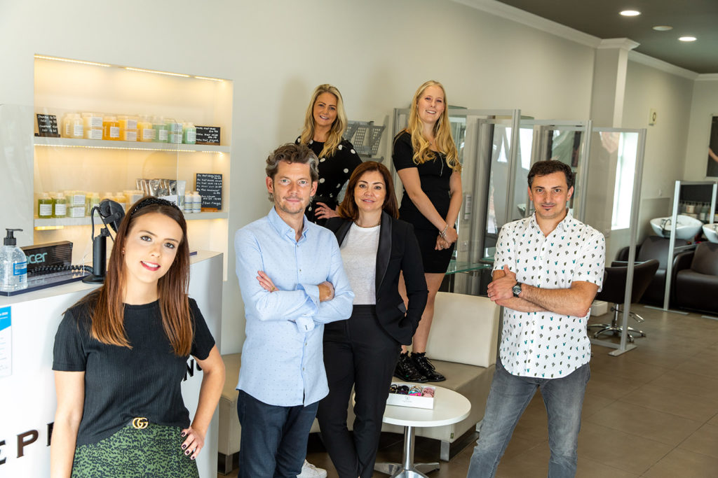 the team at stephen young salon in west wimbledon