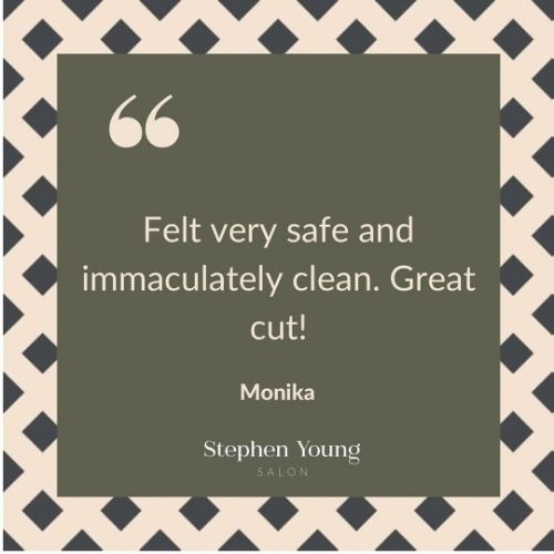 Covid Safe Salon, Stephen Young Salon in West Wimbledon, Client Review