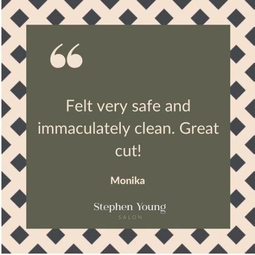 Covid Safe Salon, Stephen Young Salon in West Wimbledon, Client Review